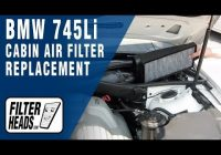 how to replace cabin air filter bmw 745li Bmw Cabin Air Filter