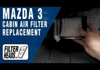 how to replace cabin air filter mazda 3 Mazda 3 Cabin Air Filter
