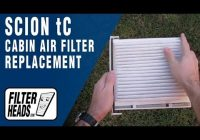 how to replace cabin air filter scion tc Scion Tc Cabin Air Filter