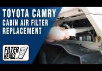 how to replace cabin air filter toyota camry Replacing Cabin Air Filter