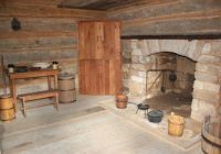 inside the replica cabin picture of abraham lincoln Abe Lincoln Cabin