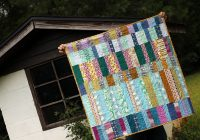 lake cabin finished quilt pattern stitched in color Lake Cabin Quilt Pattern