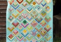 lake cabin quilt pattern stitched in color log cabin Lake Cabin Quilt Pattern