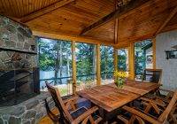 lake house makeover traditional porch portland maine Lake Cabin Makeover
