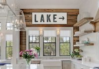 lake sign arrow large canvas lake house decor vintage look Lake Cabin Accessories
