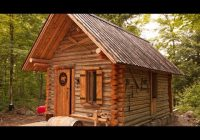 log cabin timelapse built one man in the forest youtube Small Cabin Self Build
