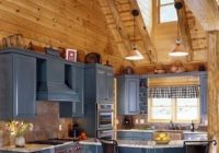 log home kitchen with gray cabinetry i would like to tweak Cabin Kitchen Cabinets