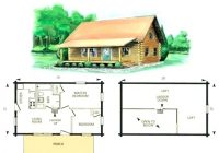 log home plans with 2 living areas mineralpvp 3 Bedroom Cabin Plans With Loft