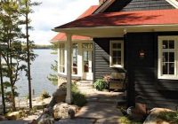 love my dream house is a tiny cottage on a tiny forested Lake Cabin Exterior