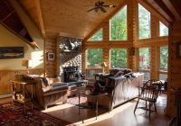 luxury log cabin style family ski lodge 15 minutes from sunday river ski resort bethel Log Cabin Style
