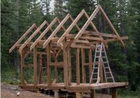 mark van roojen construction of a small 10 x 14 timber frame Timber Frame Small Cabin/