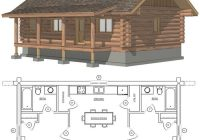 maybe widen second for bunks or add a loft space with small 3 Bedroom Cabin Plans With Loft