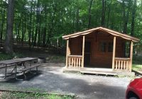 mini cabin site picture of rocky gap state park Maryland State Parks Cabins