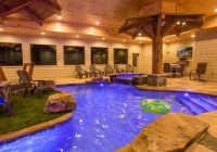 mountain lodge with an indoor pool 6 bedrooms 7 12 baths 6 Bedroom Cabins In Gatlinburg