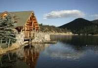 mountain waterfront real estate evergreen co lakes rivers Lake Cabin Colorado For Sale