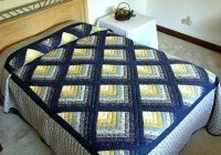 navy and yellow chevron log cabin quilt hannahs quilts Log Cabin Chevron