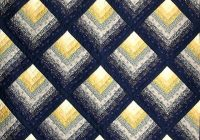 navy and yellow chevron log cabin quilt photo 3 log cabin Log Cabin Chevron