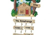 personalized planet family of six lake cabin personalized ornament Lake Cabin Ornament