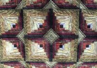 pin quilting with judy martin on sewingquilting in 2021 Log Cabin Quilt Designs