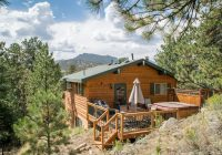pine cone cabin walk to town private location hot tub wood fp Estes Park Lodging Cabins
