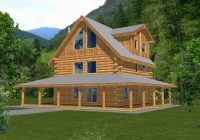 rainbow lake rustic log home plan 088d 0047 house plans Two Story Cabin Plans