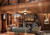 rustic cabin in the woods town country living Cabin In The Woods Rooms