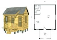 rustic cabin plans bobbrousseau Small Hunting Cabin Plans
