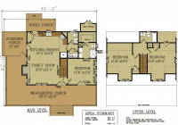 rustic cottage house plan small rustic cabin Cottage Cabin Blueprints