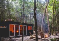 rustic forest cabin of a shipping container digsdigs Forest Cabin Designs
