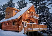 rustic log chalet cabin with jacuzzi bathtub in the adirondack mountains new york Adirondack Cabins