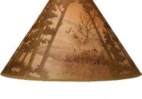 scenic wolf lamp shade discontinued Cabin Lamp Shades