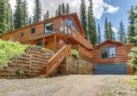 secluded cabin with a two story deck in the rocky mountains of colorado Rocky Mountains Cabins
