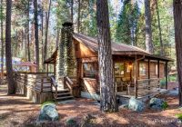 secluded log cabin rental with private deck in yosemite national park california Yosemite National Park Cabin