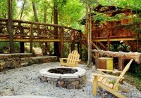 secluded tree house style cabin with a fire pit in mountain view arkansas Secluded Cabins In Arkansas