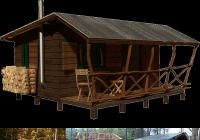 simple small cabin plans bettie Simple Cabin Plans