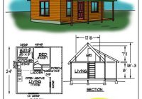 small cabin floor plans c0432b cabin plan details tiny Small Cabin Designs