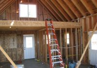small cabins with lofts loft framing loft after insulation Cabins With Lofts