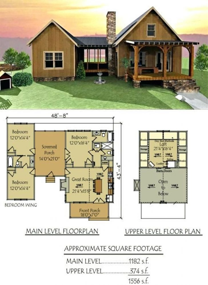 Permalink to Cozy Lake Cabin With Loft Plans Gallery