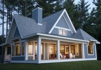 small lake house design ideas pictures remodel and decor Lake Cabin Plans With Garage