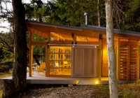 small slanted roof modern cabin modern cabin cabins Slant Roof Cabin With Loft