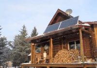 solar powered log cabin winternet starbucks coffee is Solar Cabin