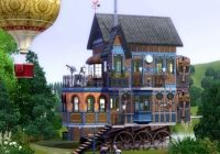 steampunk cabin fantasy abstract background wallpapers Cabin Steampunk