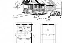 the aspen b log home kit hiawatha log homes munising mi Small Cabin Floor Plans