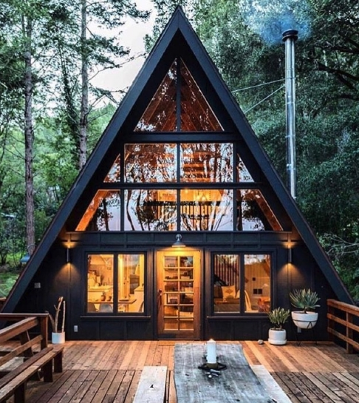 Permalink to Cozy A Frame Cabins To Build