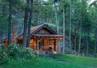 the small log cabin simply serene Forest Cabin Designs