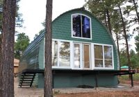 these prefab arched cabins provide cozy homes for under 10k Modular Hunting Cabins