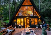 this a frame cabin in west marin is a modern boho paradise A Frame Cabin
