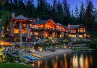 this coeur dalene lakefront mansion is the most expensive Coeur D'Alene Lake Cabins For Sale