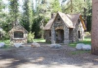 tiny house in a landscape Small Stone Cabin