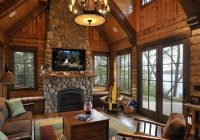 traditional montain cabin log cabin kitchens log homes Country Cabin Living Room Ideas